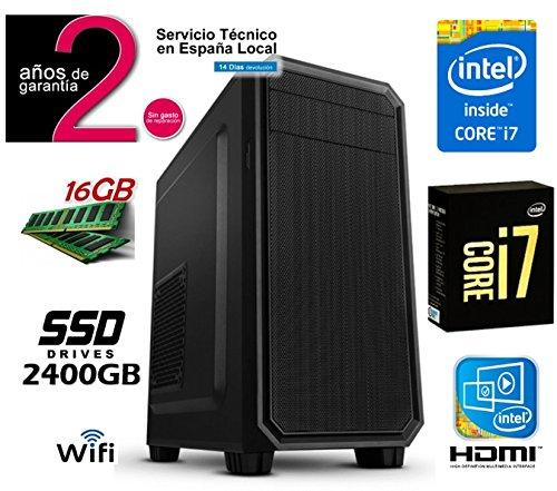 PC Ordenador Sobremesa Intle Core i7 7700 up to 4,2Ghz x 4   16GB RAM   SSD 240GB   Intel Graphics HDMI 4K   RW DVD/CD