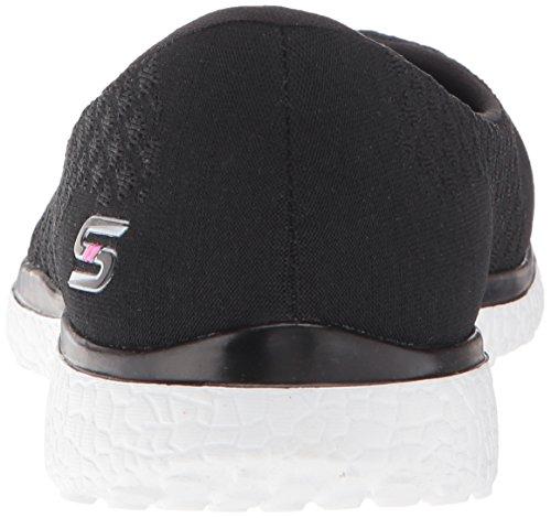 Skechers Damen Microburst-One Up Sneaker Black White
