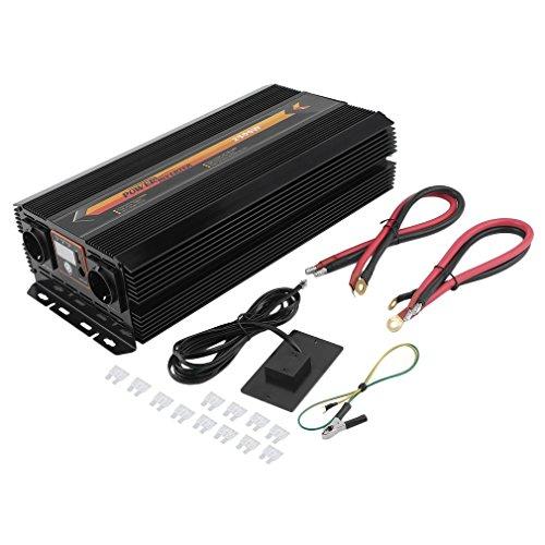 Hehilark Spannungswandler Ladegerät 2500 5000W Kfz-Wechselrichter Inverter Stromwandler DC 12 V auf AC 220-230 mit USB-Anschlus (2500W)