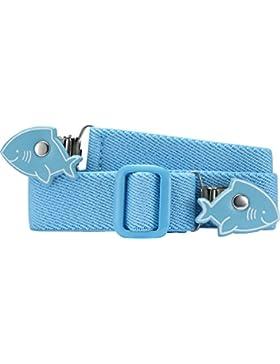 Playshoes 601220 Unisex - Elastischer Kinder Gürtel mit Clips in Haiform