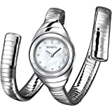 Breil Men's Quartz Watch with White Dial Analogue Display and Silver Stainless Steel Bangle TW1052