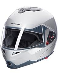 Ultrasport Motorrad-Integralhelm IH-1, Silber, Größe XL