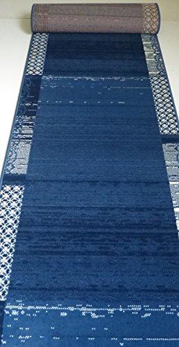Läufer Meterware nach Maß Blau 2109 lfm. 16,90 Euro Breite 100 x 140 cm