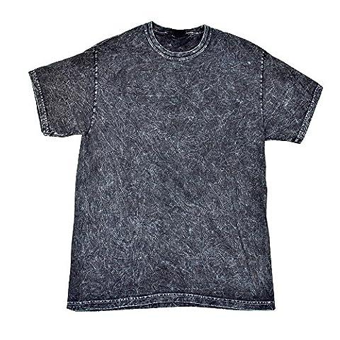Colortone - Unisex Batik T-Shirt 'Mineral Wash' / Black, XL