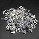 GOZAR 100Pcs Silber Crimp-Klemmen Mit Silikon-Case-Steckverbinder Für Arkade-Ketten Kabel - L