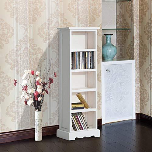 Kapazität Cd-ablage (Generic Ablage für CDs, Capac-Organizer, mit Ablagefläche aus Holz, Weiß)