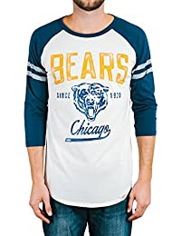 ae8dcbb6 Junk Food Chicago Bears Adult Men's Raglan Striped Sleeves White T-Shirt