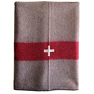 Military Outdoor Clothing New Swiss Tan Army Style Wool Blanket by Military Outdoor Clothing