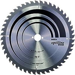 Bosch 2608640673 Lame de scie circulaire Optiline Wood 315 x 30 x 3,2 mm, 48, 1 pièce