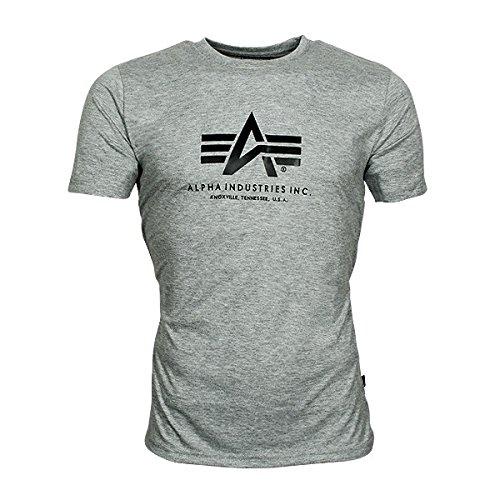 Alpha Industries Herren Regular Fit T-Shirt XX-Large - Grey Heather
