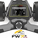 'NEW 2017' POWAKADDY FW7s GPS ELECTRIC GOLF TROLLEY + 36 HOLE LITHIUM BATTERY