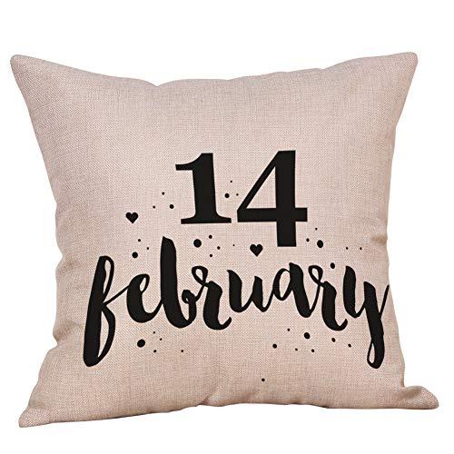 Xmiral Kissenbezüge Valentinstag Buchstaben gedruckt Pillowcase Sweet Love Square Kissenhüllen(F)