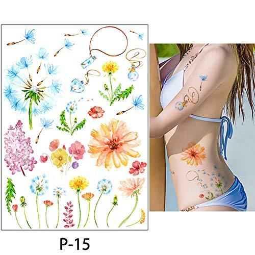 Adgkitb 3 Piezas Dibujo Coloreado Tatuaje Flamenco
