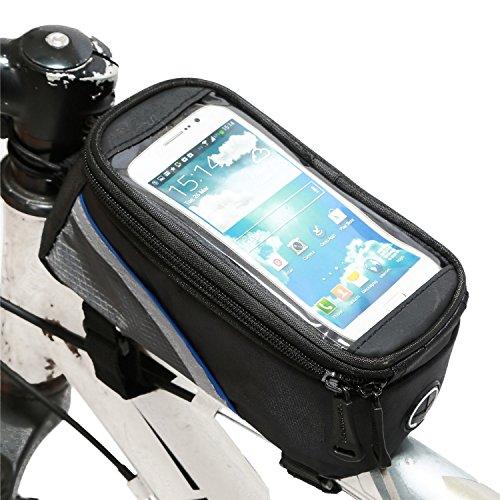 Radfahren Fahrrad Lenkerrahmen Pannier vorne Top-Schlauch-Beutel-Pack-Rack X Large wasserdicht für Iphone 6 6 Plus Samsung 4,8 5,5 Zoll-Mobile-Handy -