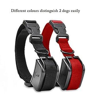 [NOUVELLE VERSION]Gleading collier de dressage pour deux chiens,Colliers anti-aboiement,Collier pour chien----Contrôle manuel portée 300 mètres