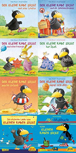 Locker Stapeln (Pixi-Bundle 8er Serie 193: Der kleine Rabe Socke (Pixi-8er-Set, Band 193))