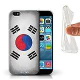 Stuff4 Coque Gel TPU de Coque pour Apple iPhone 6 / Corée/coréen Design/Drapeau...