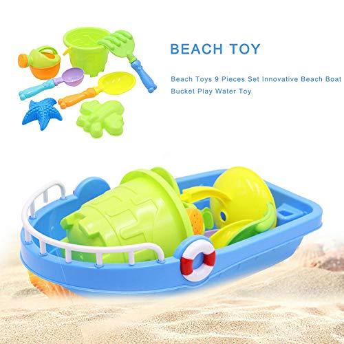 AITOCO 9-Pack Strand Spielzeug Set, Strand Meer Sand Spielzeug mit Eimer Spaten Schaufel Rechen Spielset enthält Mesh-Tasche, Sommer im Freien Modell Tool Kit für Kinder und Kinder