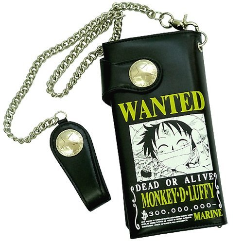 """One Piece """"Wanted / Luffy Chopper Ace Shanks"""" long wallet [Luffy] animated cartoon character long wallet mail order (japan import)"""