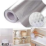 hgjhgkljhk 40 × 100 cm Etiqueta de Papel de Aluminio Autoadhesivo Papel Pintado-Etiquetas de Cocina Prueba de Aceite Impermeable Estufa de Cocina Etiqueta para decoración de Cocina