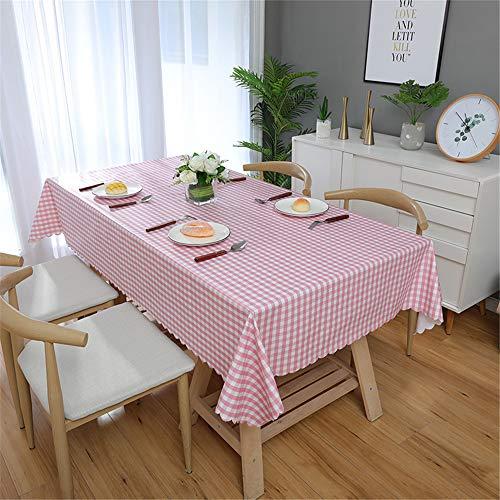 DHHY PVC Tischdecke Kleine Gitter Rechteckige Wasserdicht und Ölbeständig Tee Tischdecke Dekoration Tischset Eine 90X140 cm / 35X35in