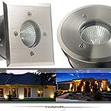 IP67 Bodeneinbaustrahler TIERRA 2 PLUS rund geeignet für LED und Halogen Leuchtmittel GU10 (jederzeit austauschbar) 230V Einbaustrahler Wegeleuchte Garten außen; ohne Leuchtmittel