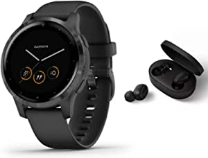 Garmin Vivoactive 4s Slim Waterproof Gps Fitness Smart Watch With Training Plans Animated Exercises Black Black Bt Headset Navigation Car Hifi