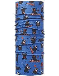Original Buff Summer Monsters Sky - High UV Protection para niños de 10-14 años, diseño estampado