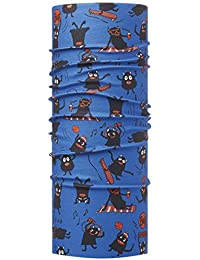BUFF JUNIOR Foulard multifonctionnel haute protection UV SUMMER MONSTERS SKY, blue, Gr.50-55