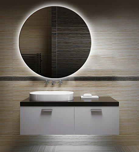 Bilderdepot24 Runder beleuchteter LED Spiegel Badspiegel Wandspiegel mit Beleuchtung - 50 cm oz-LED_FI