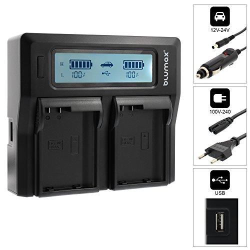 Blumax Doppelladegerät EN-EL15 EN-EL15a EN-EL15b Dual Charger | passend zu DSLR D7200 D750 D500 D7000 D800 D810 D810e D600 D610 D7100 D850 D7500 || 2 Akkus gleichzeitig Laden