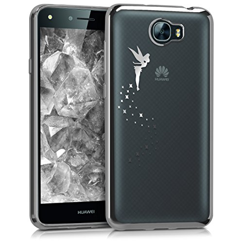 kwmobile Huawei Y6 II Compact (2016) Hülle - Handyhülle für Huawei Y6 II Compact (2016) - Handy Case in Silber Transparent