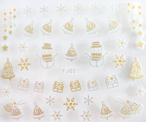 Nail art stickers autocollants pour ongles scrapbooking décorations d'hiver Noël cadeaux flocons