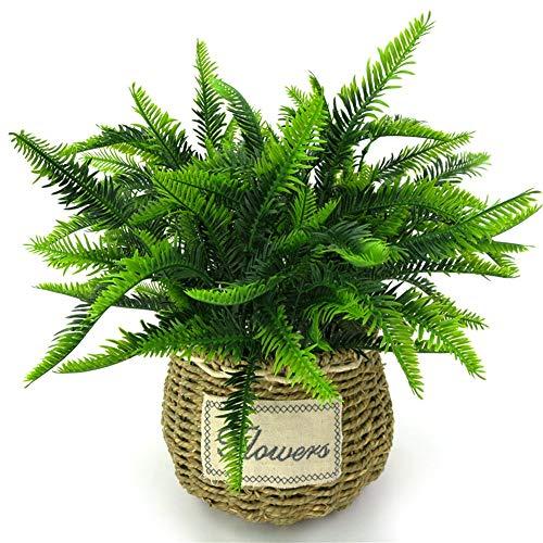 WG 7 gabeln/blumenstrauß 38 cm künstliche persische Gras Simulation grünpflanzen Hause Balkon Garten Landschaft Dekoration Hochzeit Blume - Persischen Garten Blumen