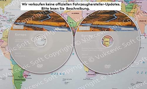 Audi Navigation Update MMI 2G High DVD1+DVD2 2018