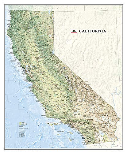 National Geographic: California Wall Map - Laminated (33.5 X 40.5 Inches)