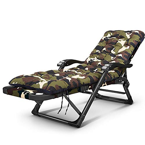 Stil-massage-stuhl (Jia He Klappsessel Klappsessel fett 30X15mm flachrohr klappstuhl Hause lehnstuhl Schwangere Frauen Stuhl bürostuhl, 2 Farben, 2 Stile ## (Color : B, Size : Thick pad))