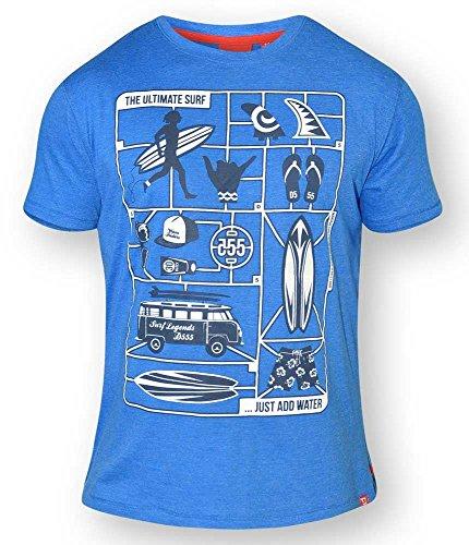 D555 -  T-shirt - Camicia - Uomo Bright Blue Marl