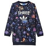 adidas ORIGINALS FLOWER TREFOIL MÄDCHEN KINDER LONG SWEATSHIRT BLÜTEN BLUMEN, Größe:116, Farbe:Mehrfarbig