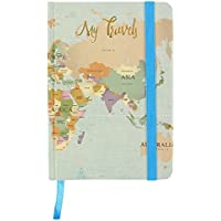 Jone Home and Gift My Travels Adventure Hardback Journal A6 Notebook with Elastic Closure