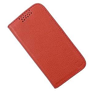 Dooda Genuine Leather Flip Case For Lava Xolo Q800 (ORANGE)