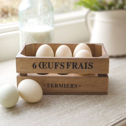 Holz Country Style Sechs Egg Storage