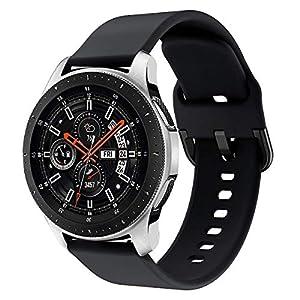 Yayuu Compatible para 22mm Correa de Reloj Galaxy Watch 46mm/Gear S3 Frontier/Classic Banda de Reemplazo de Silicona Deportiva Pulsera para Moto 360 2nd Gen 46mm/Huawei Watch GT/Ticwatch Pro 9