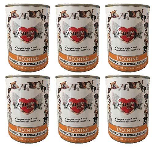 Disugual - monoproteico tacchino - pack da 6 scatolette da 400 g