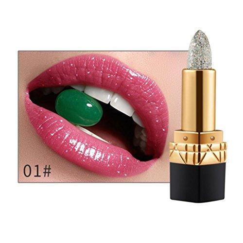 Rouge à lèvres,Honestyi Gloss à lèvres pour femmes Changement de couleur de la température Soin hydratant (01#)