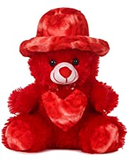 Deals India Cap Teddy Bear Very Beautiful Huggable Valentine and Birthday Gifts Lovable Special Gift- 32 cm, Red