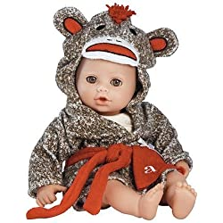 "Adora Bathtime Baby -Sock Monkey, 13"" Washable Soft Body Play Doll for Children 12 months & up"