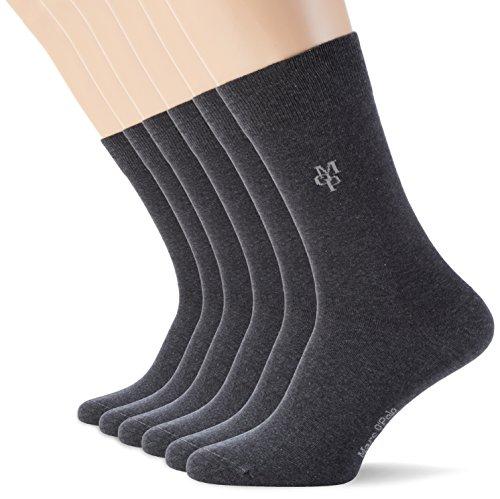Marc O\'Polo Body & Beach Herren Socken , 6er Pack, Gr. 39/42 (Herstellergröße: 403), Grau (grau 200)