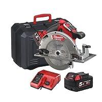 Milwaukee M18CCS66-502C M18 Fuel 66MM Circular Saw (2 x 5.0ah batteries, charger, BMC)