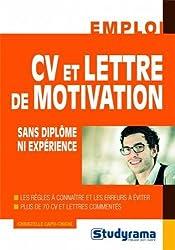CV et lettre de motivation sans diplôme ni expérience